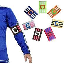 ASEOK Soccer Captains Armband Football Captain Armband Junior Elasticated Futbol Captain para Adultos, Velcro de