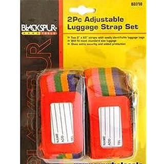 3xBlackspur BB-BD330 Adjustable Luggage Strap Set