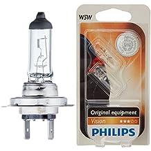 2X Philips 12972 PRB1 Premium - Bombilla H7 (1 unidad, 30% más de potencia) + Philips 12961B2 Vision - Bombilla W5W para indicadores (2 unidades)