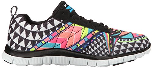 Skechers (SKEES) Flex Appeal - Arrowhead, baskets sportives femme noir (BKMT)