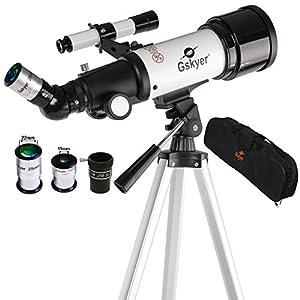 Gskyer AZ70400 Telescope, Travel Scope, 70mm Aperture 400mm AZ Mount Astronomical Refractor Telescope for Kids Beginners