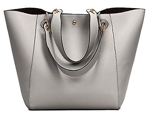 Tibes Nette Handtaschen Partei Geldbeutel Mädchen Damen Schultaschen Grau