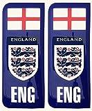 England Drei Löwen Nummernschild Aufkleber Aufkleber Badge Englisch St. George Flagge 3D Kunstharz Gel Kuppel