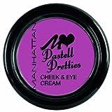 Manhattan Pastell Pretties Cheek & Eye Cream Nr. 04 I Lilac You Farbe: Brombeerpink Die Cream einfach auf Wangen oder Lippen bzw. Augen auftragen. Rouge Blush Lidschatten Eyeshadow Lipgloss die Cream ist vielseitig einsetzbar.