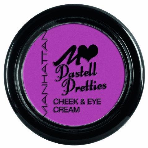 Manhattan Pastel pretties Cheek & Eye Cream N ° 04 I Lilas You couleur : brombee rpink simplement les Crème sur les joues ou lèvres ou Yeux Appliquer. Blush Fard à paupières Blush fard à paupières Gloss la crème est polyvalent.