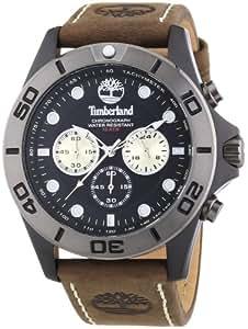 Timberland - TBL.13909JSBU/02 - Northfield - Montre Homme - Quartz Analogique - Cadran Noir - Bracelet Cuir Marron