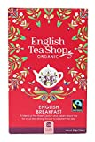 English Tea Shop English Breakfast Fairtrade Organic Black Tea / Té Nero Di Ceylon Colazione Inglese Biologico Ed Equosolidale - 1 x 20 Sachets (40 Gram)