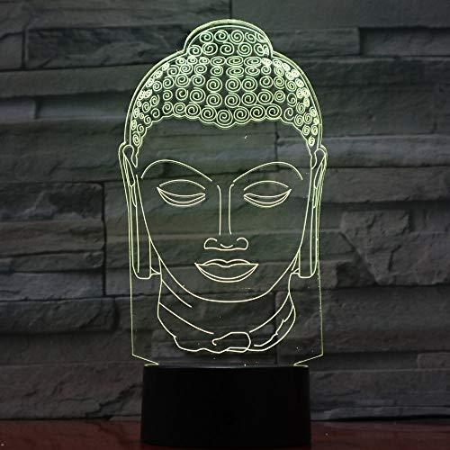 Buddha Lampe 7 Farbwechsel Nacht Lampe 3d Atmosphäre Bulbing Light Led 3d Visuelle Illusion Freunde Geschenk Party Deco (Buddha Pfeife)