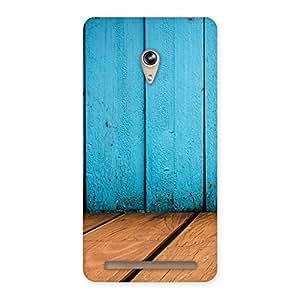 Wood Cyan Back Case Cover for Zenfone 6