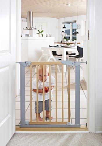 BabyDan Avantgarde Indicator Baby Safety Gate Natural/Silver