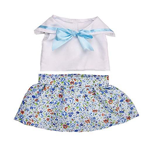 Zolimx Puppen Mädchen Zubehör Kleid Spielzeug Puppe Kleidung Kleiderschrank für 18 Zoll American Doll Puppenkleidung