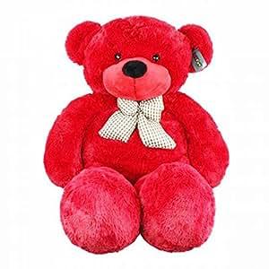 Joyfay Marque nounours en peluche Ours en peluche géant Jouet Doux Poupée Lavable teddy bear cadeau pour adulte enfants (100 cm, Rouge)