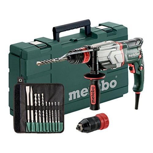 Metabo Multihammer UHE 2660-2 Quick Set (800 W, 2,8 J, Wechselfutter SDS-Plus, Bohr-Ø Beton 26 mm - Bohrhammer Made in Germany mit Koffer und Bohrer-/Meisselsatz) 600697510