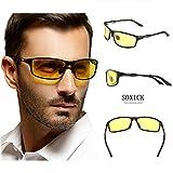 Soxick®, Sonnenbrille mit polarisisiertem Blendschutz. für Nacht, Regen, Nebel, Schnee, Sonne und sicheres Fahren