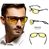 Soxick� HD Night Driving Glasses Anti Glare Polarized Sport Sunglasses for Night Rain Fog Snow Sunny Day Driving Safety