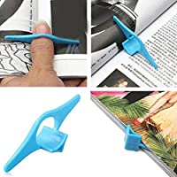 F-blue Anillo de Dedo Pulgar Libro Holder Libro Soporta Bookmark Marcadores de Libros de Escuela Stationery Office Supply