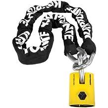 Kryptonite New York Legend Chain Kette mit Vorhängeschloss, Schwarz/ Gelb, One Size