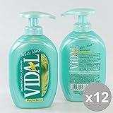 Set 12Vidal Flüssigseife 300White Musk Duschgel und Seife für den Körper