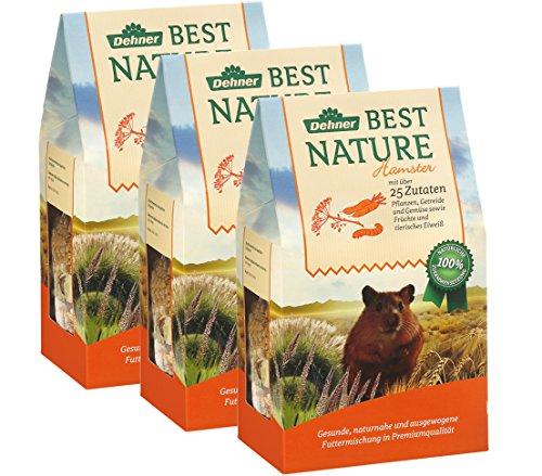 Dehner Best Nature Nagerfutter für Hamster, 3er Pack (3 x 500 g)