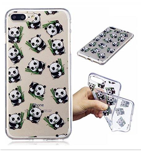 Iphonese/5/5S Shell Wyrhs cover protettiva in silicone morbido silicone box ultra-sottile trasparente Shell antiurto scratch–Girl + metallo penna di tocco panda