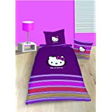 CTI 040113 Bettwäsche Hello Kitty Sarah / Linon / 135 x 200 + 80 x 80 cm