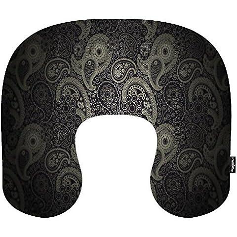 i FaMuRay Cuscino da Viaggio per Cervicale a Memoria di Forma di U Cuscino- Memory Foam Pillow, Art Circles Digital Patterns