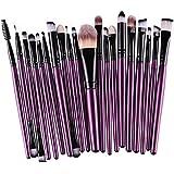 Oyedens 20-tlgs Pinsel Schmink-pinselset Professional Make up Kosmetik Lidschatten Schminke Profi Wollehaar Lila
