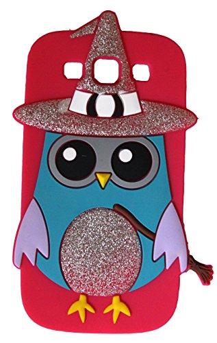 SKS Distribution ® heiß rosa Hexe Assistent funkeln Eule OWL Silikonhülle für das Samsung Galaxy S3 SIII I9300