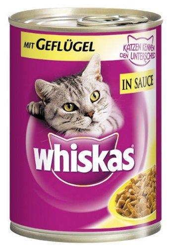 Whiskas in Sauce mit Gefluegel 12x400g Katzenfutter nass