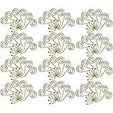COM-FOUR 72x Appendiabiti Grande in Oro per Palline di Natale, Ganci a Sfera piegati ad Arte per Palle di Natale, 5 cm (Spirale - 72 Pezzi Color Oro)