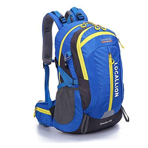 Nuovo Casual Sport Alpinismo Zaino Grande Capacità Da Viaggio Borsa 40L,Blue-OneSize Blue