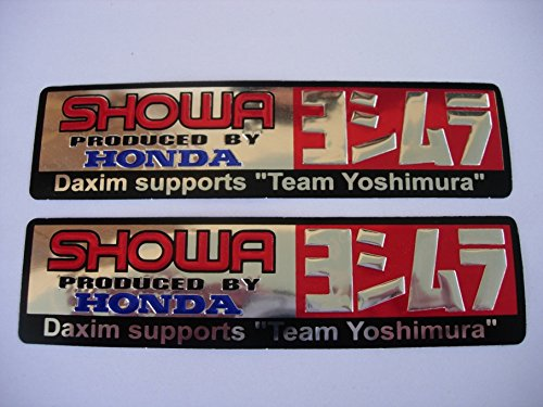 3D chrome HONDA YOSHIMURA SHOWA stickers decals Aufkleber - set of 2 pieces - Aufkleber-set Für Honda