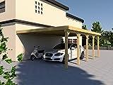 Anlehncarport Carport EIFEL II 500x700cm Bausatz, Anlehn Carport