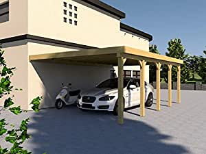 anlehncarport carport eifel ii 500x700cm bausatz anlehn carport auto. Black Bedroom Furniture Sets. Home Design Ideas