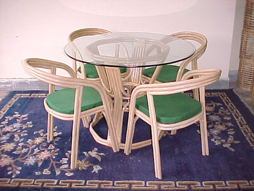 Cane World Retro Dining Set ( 4 Chairs , 1 Center Table )