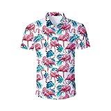 3D Camisa Hawaiana, Morbuy Hombre Manga Corta Bolsillo Delantero Casual Playa Tops