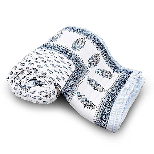 Ethnic Arts Soft and Light Weight 100% Cotton Filled Booti Print Cotton...