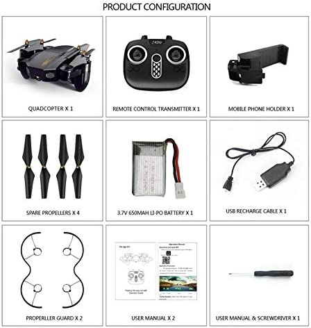 AFemmedua FQ777 FQ36 720P Pixel 2.4G RTF WiFi FPV FPV FPV Grand Angle Caméra HD Pliable RC Drone   Bonne Conception Qualité  160ccc