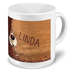 XXL-tasse géante avec le linda-grande tasse avec motif grains de café nom mug, tasse mug, tasse