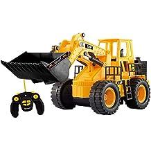 Top Race® Cargador Frontal, 5 Canales, Completamente Funcional, Tractor Construcción Eléctrico TR-113 a Control Remoto CR (Con Luces y Sonidos)