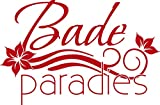 GRAZDesign 650212_40_031 Wandtattoo Bade Paradies | Aufkleber für Duschkabinen - Fliesen-Tattoo für Badezimmer | auf Spiegel - Wand - Fliesen klebbar (61x40cm//031 rot)