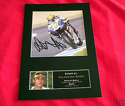 VALENTINO ROSSI reproduction autograph Signed Photo PRINT