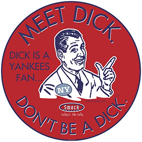 Smack Apparel Boston Baseball-Fans. Aufkleber Don't Be a D!ck (Anti-Yankees), rot - Nur Baseball Jersey