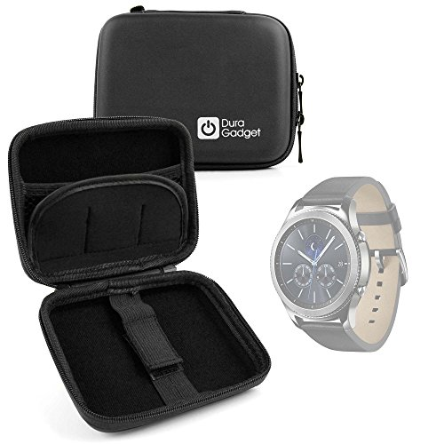 DURAGADGET Funda Rígida Para Smartwatch Garmin Forerunner 35 / Samsung Gear S3 / TomTom Touch / Adventurer / Runner 3 + Mini Mosquetón -