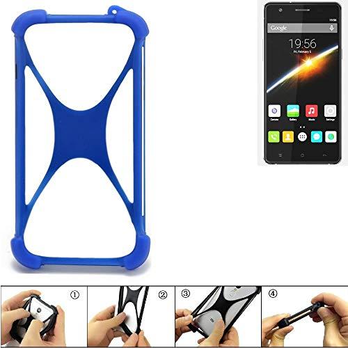 K-S-Trade Bumper für Cubot S500 Silikon Schutz Hülle Handyhülle Silikoncase Softcase Cover Case Stoßschutz, blau (1x)