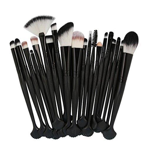 SHOBDW Pinceaux Maquillage Cosmétique Professionnel Cosmétique Brush Beauté Maquillage Brosse Makeup Brushes Cosmétique Fondation avec Sac Abordable, Coquille 22pcs Set/Kit (L)