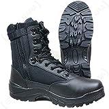 Mil-Tec Tactical Side Zip Stivali Nero Taglia 11 UK / 12 US