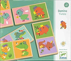 Djeco - Domino Yunzo animaux (28 pièces)