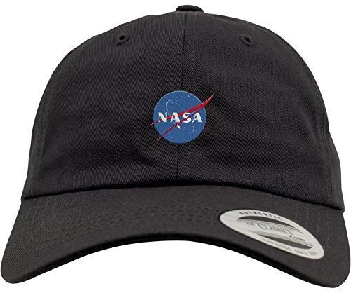 Black Tee Cap (Mister Tee NASA Dad Cap Dadcap, Black, One Size)