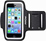 Mpow® Running Sport Sweatproof Armband + Key Holder for iPhone 5/5S/5C/SE, iPod Touch 5, with Adjustable size, Safey design, Suitable for Biking, Hiking, Canoeing, Walking, Horseback Riding, Gardening, Golfing, Shopping, Rollerblading, Downhill & Nordic Skiing, Housework